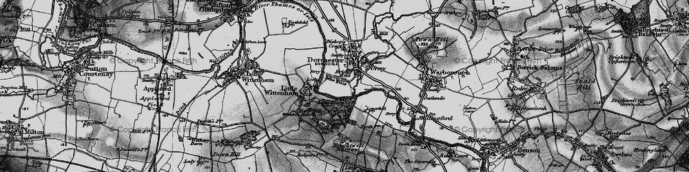 Old map of Bridge End in 1895