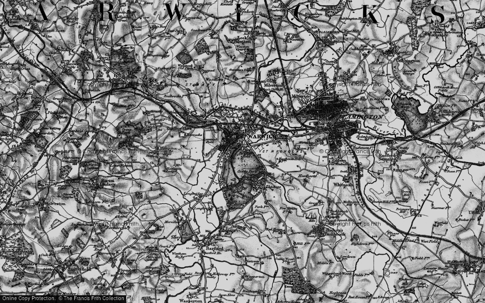 Old Map of Historic Map covering Barford Wood in 1898