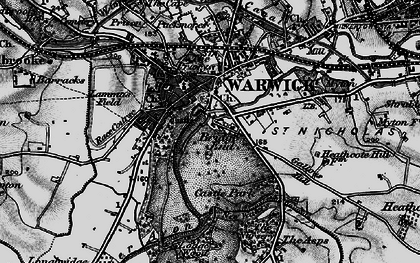 Old map of Barford Wood in 1898