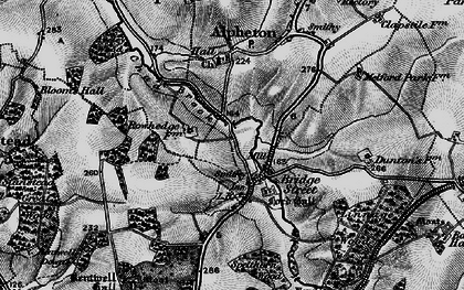 Old map of Lineage Wood in 1895