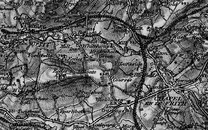 Old map of Lidgate in 1896