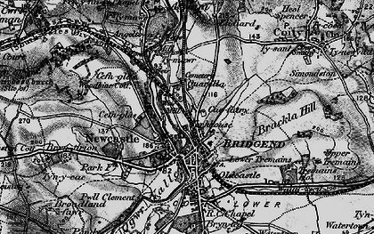 Old map of Bridgend in 1897