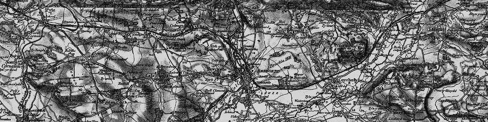 Old map of Bridgend in 1897