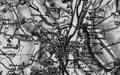 Old map of Bridgnorth in 1899