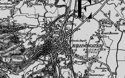 Old map of Bridgwater in 1898