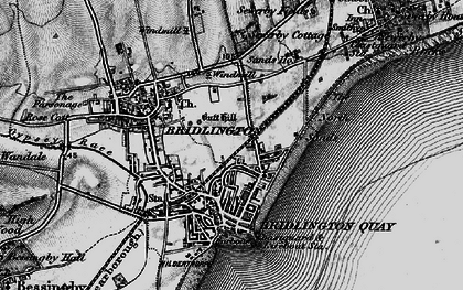 Old map of Bridlington in 1897