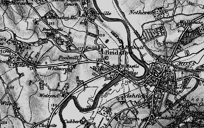 Old map of Wyelea in 1896