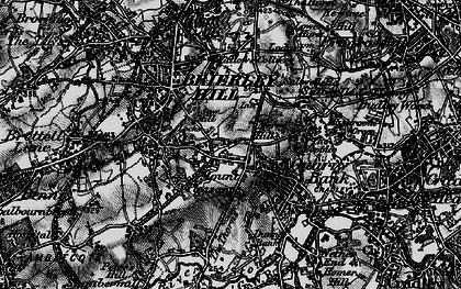 Old map of Brierley Hill in 1899