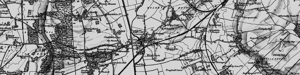 Old map of Brigg in 1895