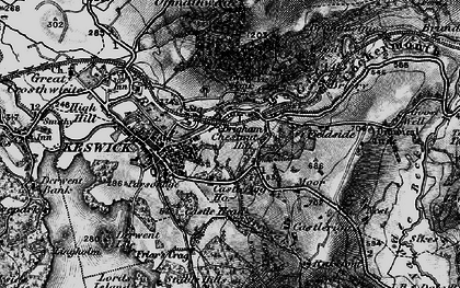 Old map of Latrigg in 1897