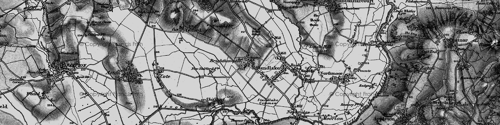 Old map of Brighthampton in 1895