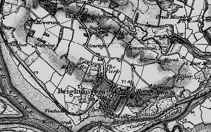Old map of Westmarsh Point in 1896