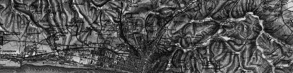 Old map of Brighton in 1895