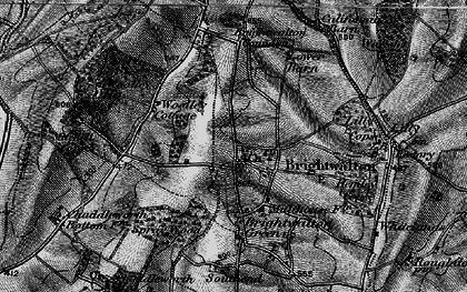 Old map of Brightwalton in 1895