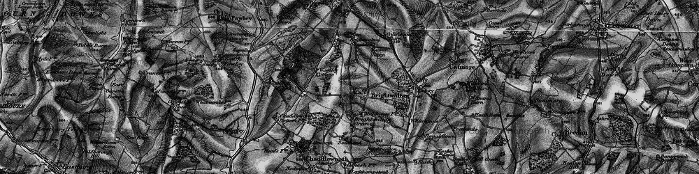 Old map of Woolley Ho in 1895