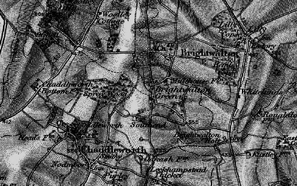 Old map of Brightwalton Green in 1895
