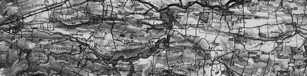 Old map of Brignall in 1897