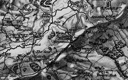 Old map of Brilley Mountain in 1896