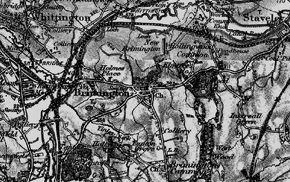 Old map of Brimington in 1896
