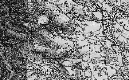 Old map of Langaller in 1898