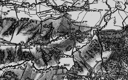 Old map of Brimpton in 1895