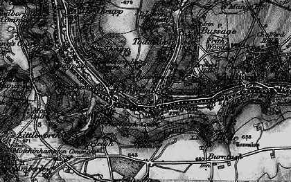 Old map of Brimscombe in 1897