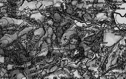 Old map of Whitbourne Hall in 1898
