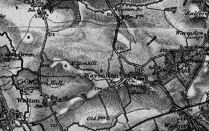 Old map of Brinklow in 1896