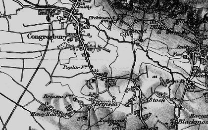 Old map of Brinsea in 1898