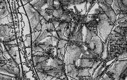 Old map of Willey Spring in 1895