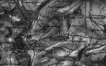Old map of Barcombe Down in 1898