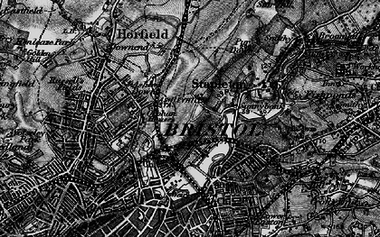 Old map of Bristol in 1898