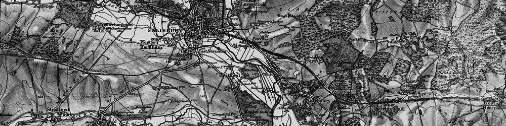 Old map of Britford in 1895