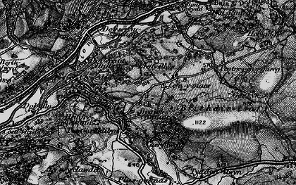 Old map of Afon Wnion in 1899