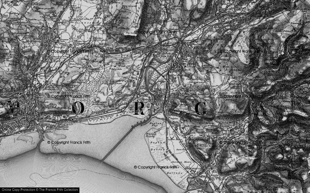 Old Map of Briton Ferry, 1898 in 1898