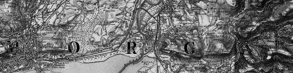 Old map of Briton Ferry in 1898