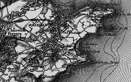 Old map of Brixham in 1898