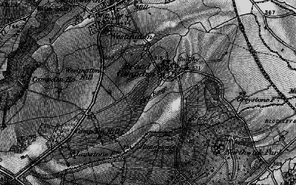 Old map of Westington Hill in 1898