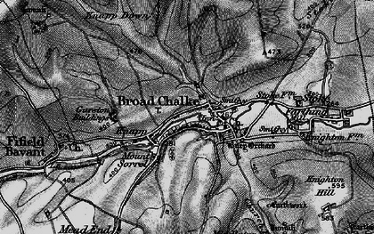 Old map of Broad Chalke in 1895