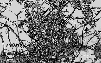 Old map of Broad Green in 1895