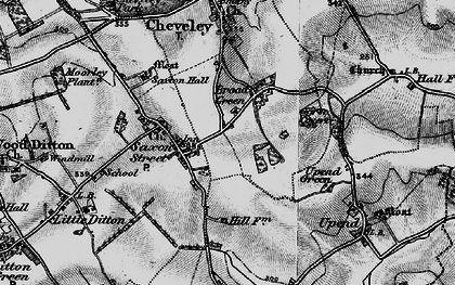 Old map of Broad Green in 1898