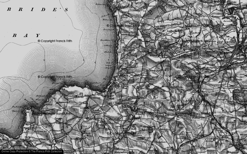 Old Map of Broad Haven, 1898 in 1898