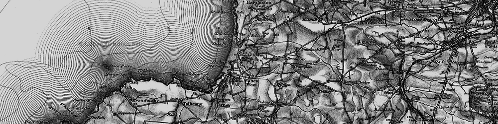 Old map of Broad Haven in 1898