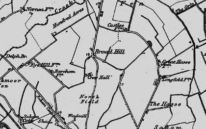 Old map of Broad Hill in 1898
