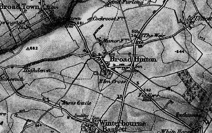 Old map of Broad Hinton in 1898