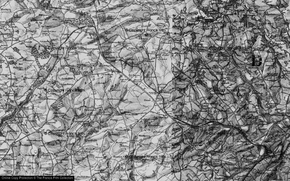 Old Map of Broadbury, 1895 in 1895
