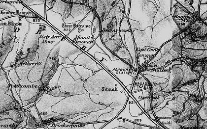 Old map of Broadbury in 1895