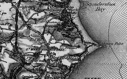 Old map of Monkstone Point in 1898