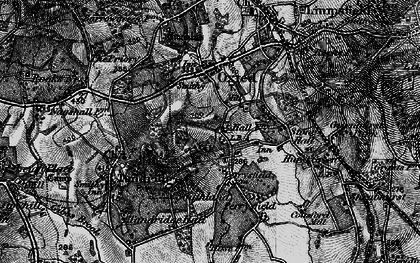 Old map of Broadham Green in 1895