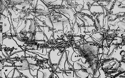 Old map of Levaton in 1898
